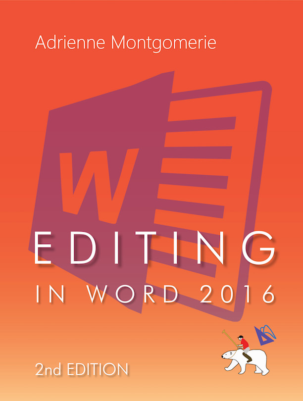 cover of editing in word 2016 2nd edition